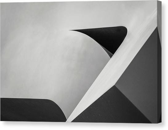 Abstract In Black And White Canvas Print