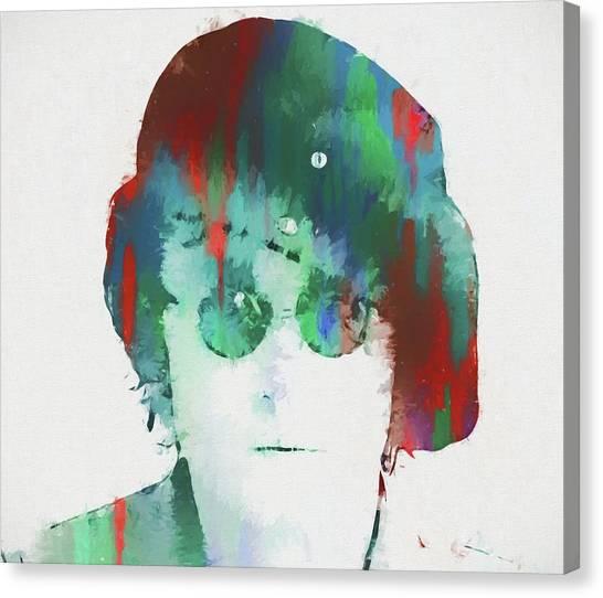 Yoko Ono Canvas Print - Abstract Lennon by Dan Sproul