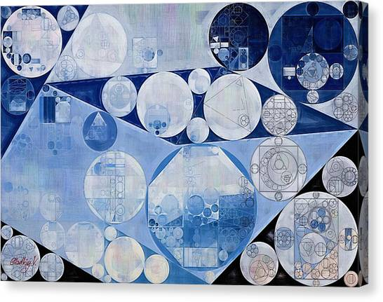 Deltas Canvas Print - Abstract Painting - Oxford Blue by Vitaliy Gladkiy
