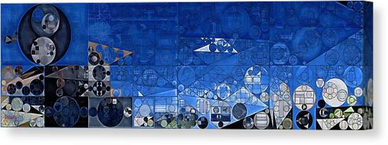 Yale Canvas Print - Abstract Painting - Yale Blue by Vitaliy Gladkiy