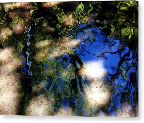 Abstract Water Blues Canvas Print by Heather S Huston