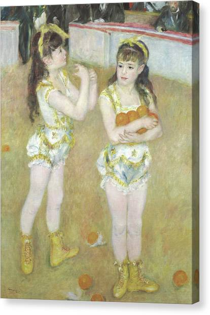 Big Sister Canvas Print - Acrobats At The Cirque Fernando, Francisca And Angelina Wartenberg by Pierre Auguste Renoir