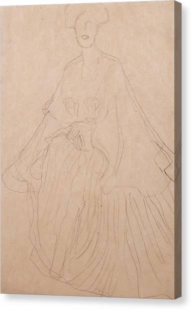 Adele Canvas Print - Adele Bloch Bauer by Gustav Klimt