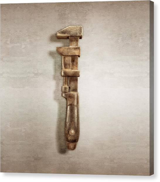 Wrenches Canvas Print - Adjustable Wrench Left Face by YoPedro