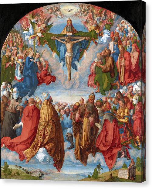 Adoration Of The Trinity  Canvas Print
