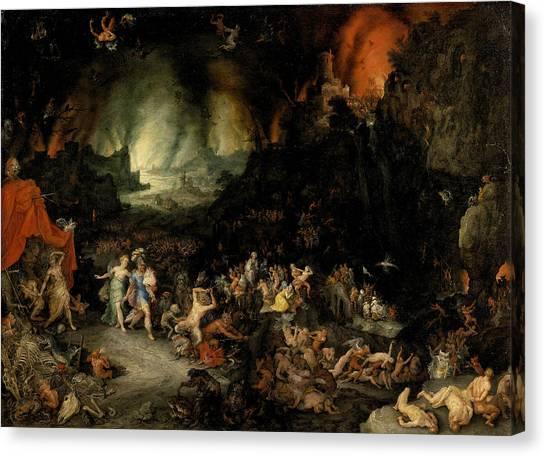 Elder Canvas Print - Aeneas And Sibyl In The Underworld by Jan Brueghel the Elder