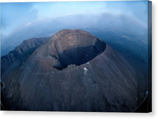 Mount Vesuvius Canvas Print - Aerial View Over Mount Vesuvius Reveals by O. Louis Mazzatenta