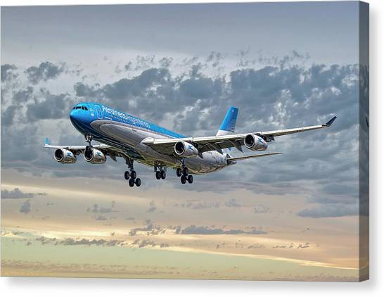 Argentinian Canvas Print - Aerolineas Argentinas Airbus A340-313 by Smart Aviation