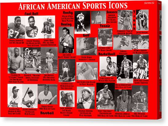 Jerry Rice Canvas Print - African American Sports Icons Poster by  Sirron Kyles