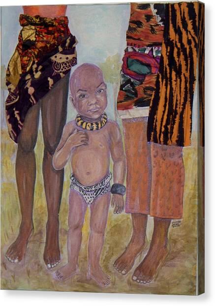Afrik Boy Canvas Print