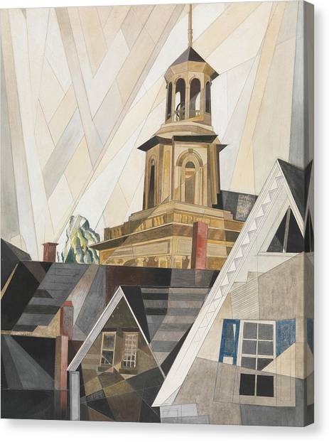 Precisionism Canvas Print - After Sir Christopher Wren by Charles Demuth