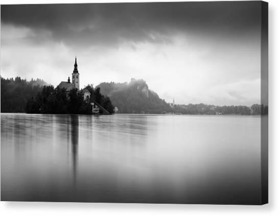 After The Rain At Lake Bled Canvas Print