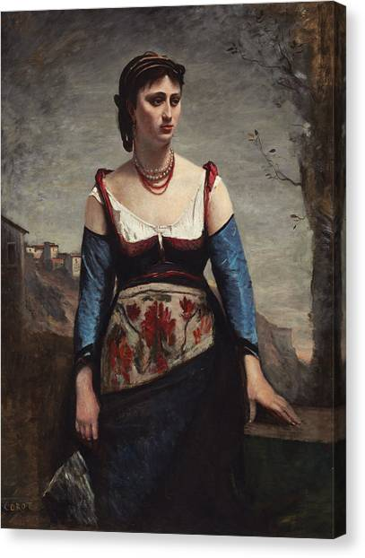 Canvas Print - Agostina by Jean-baptiste-camille Corot