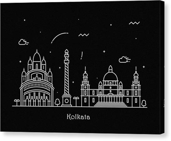 Kali Canvas Print - Ahmedabad Skyline Travel Poster by Inspirowl Design