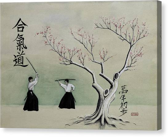 Aikido Always Beginning Canvas Print by Scott Manning