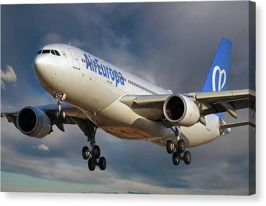 Soccer Leagues Canvas Print - Air Europa Airbus A330-202 by Smart Aviation
