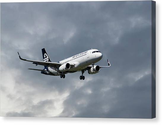 New Zealand Canvas Print - Air New Zealand Airbus A320 by Smart Aviation