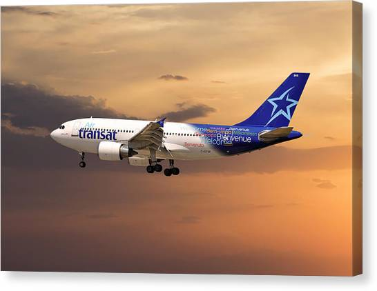 Montreal Canvas Print - Air Transat by Smart Aviation
