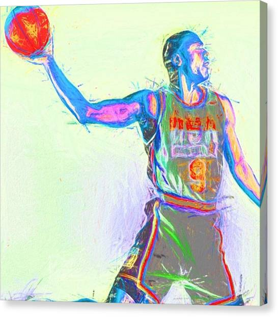 Basketball Canvas Print - #airjordan #jordan #jordans #art by David Haskett II