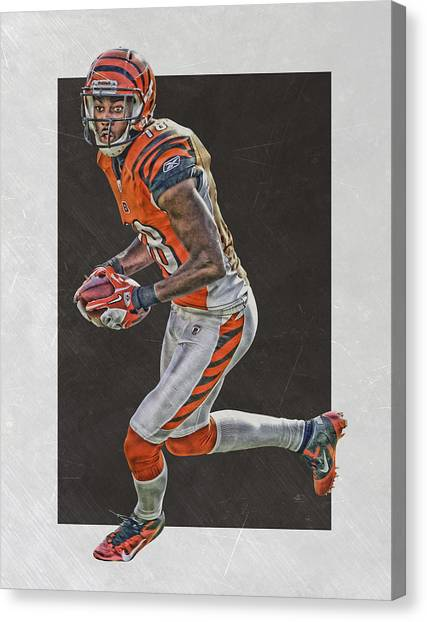 Cincinnati Bengals Canvas Print - Aj Green Cincinnati Bengals Art by Joe Hamilton