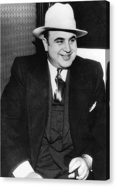 Scarface Canvas Print - Al Capone by American School