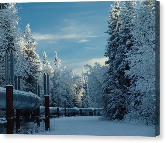 Alaska Pipeline Canvas Print