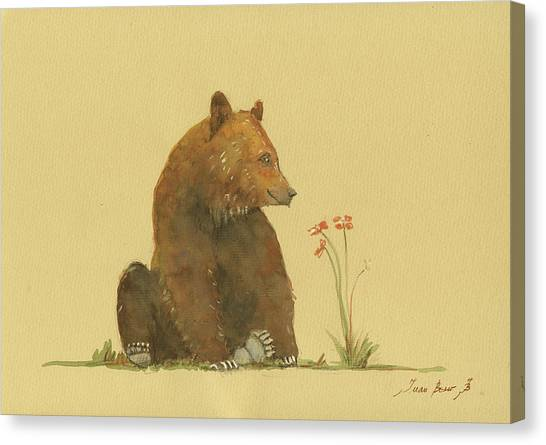 Bears Canvas Print - Alaskan Grizzly Bear by Juan Bosco