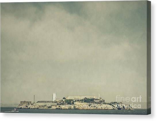 Detention Canvas Print - Alcatraz by Andrew Paranavitana