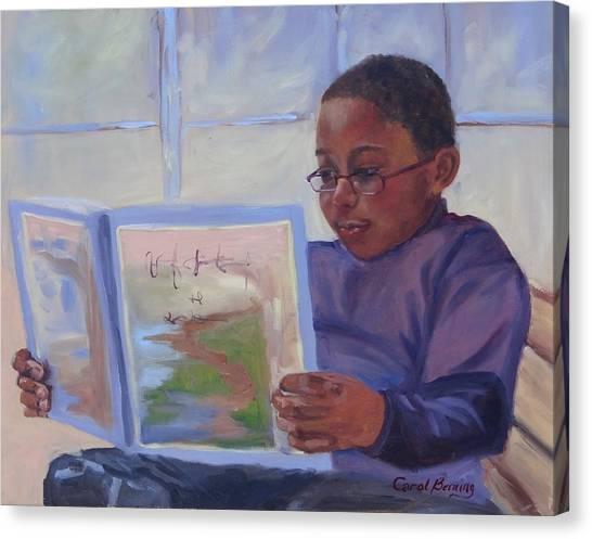 Alex Reading Canvas Print