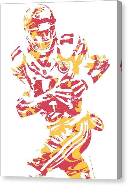 Kansas City Chiefs Canvas Print - Alex Smith  Kansas City Chiefs Pixel Art by Joe Hamilton