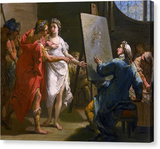 Neoclassical Art Canvas Print - Alexander Presenting Campaspe To Apelles by Treasury Classics Art