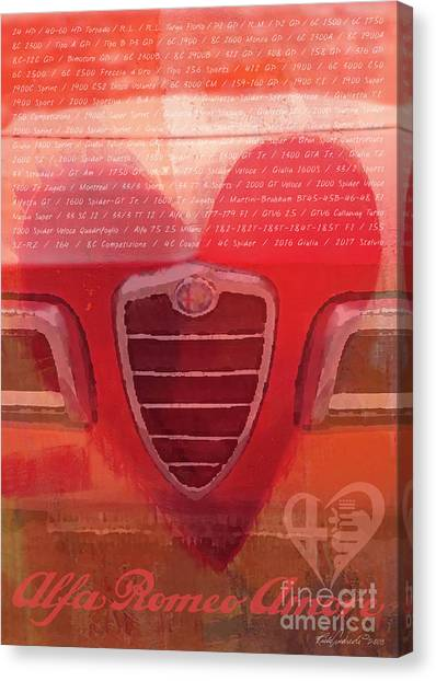 Alfa Romeo Valentine Canvas Print