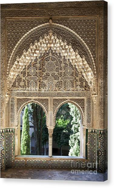 Muslim Canvas Print - Alhambra Windows by Jane Rix