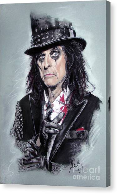 Alice Cooper Canvas Print - Alice Cooper by Melanie D