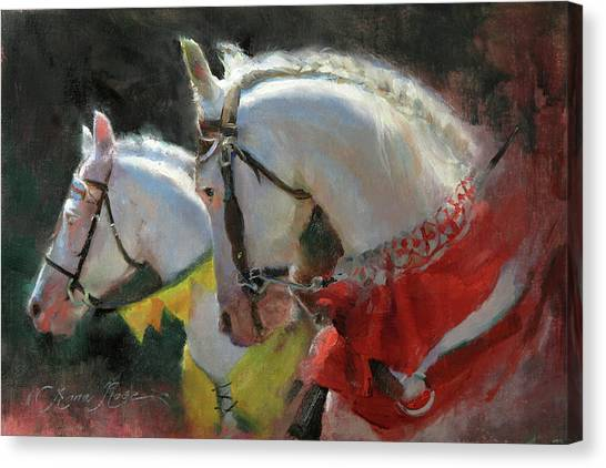 White Horse Canvas Print - All The King's Horses by Anna Rose Bain