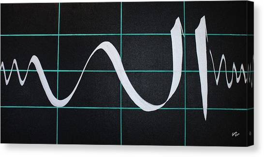 Divine Name In Cardiograph Canvas Print