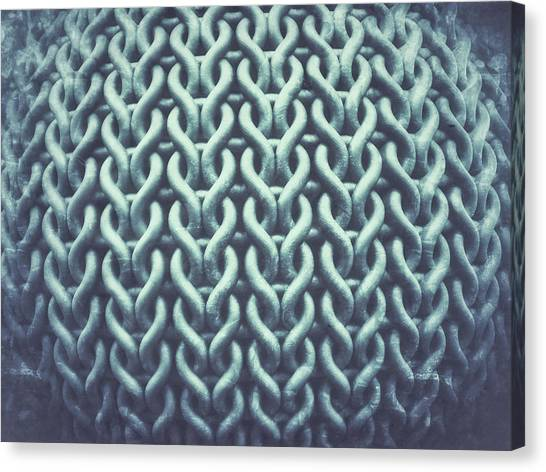 Chain Link Fence Canvas Print - An Abstract Background by Tom Gowanlock