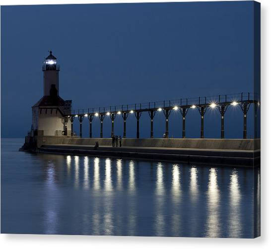 An Evening At The Lighthouse Canvas Print