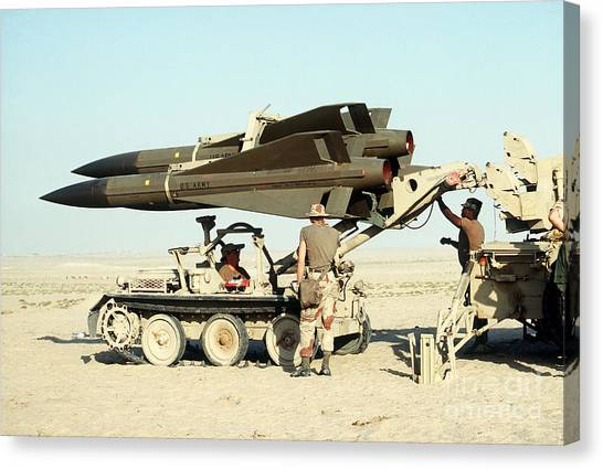 Warheads Canvas Print - An Mim-23b Hawk Surface-to-air Missile by Stocktrek Images