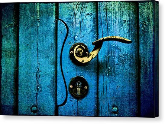Ancient Blue Door Canvas Print
