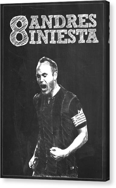 Andres Iniesta Canvas Print - Andres Iniesta by Semih Yurdabak