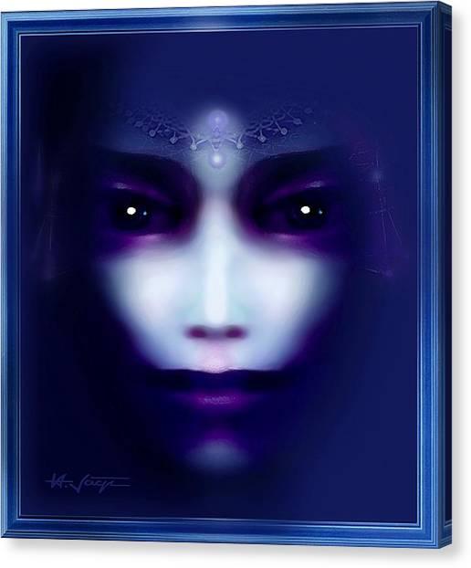 Angel  Blue Canvas Print