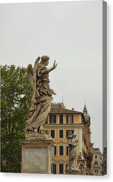 Angel With Nails Canvas Print by JAMART Photography