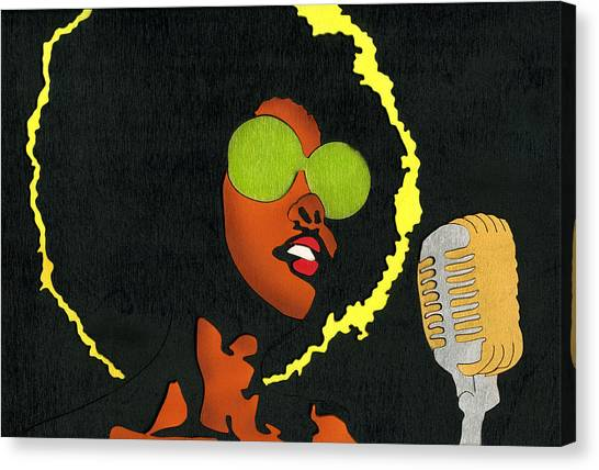 Angela Sings Canvas Print