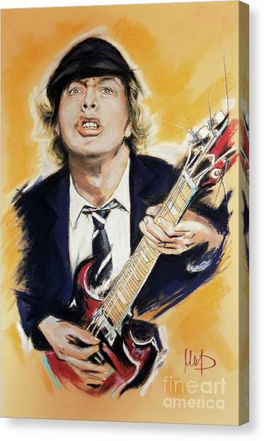 Ac Dc Canvas Print - Angus Young 1 by Melanie D