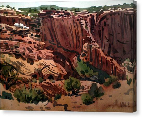 Antelope House Overlook 2003 Canvas Print by Donald Maier