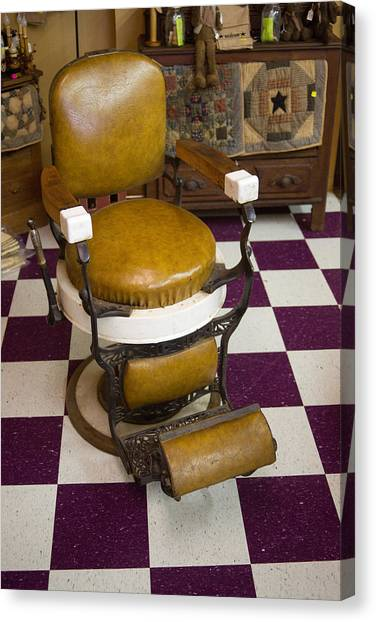 Antique Barber Chair 3 Canvas Print