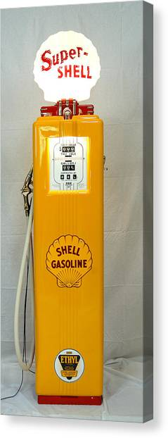 Antique Gas Pump Canvas Print