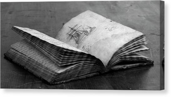 Antique Notebook Canvas Print