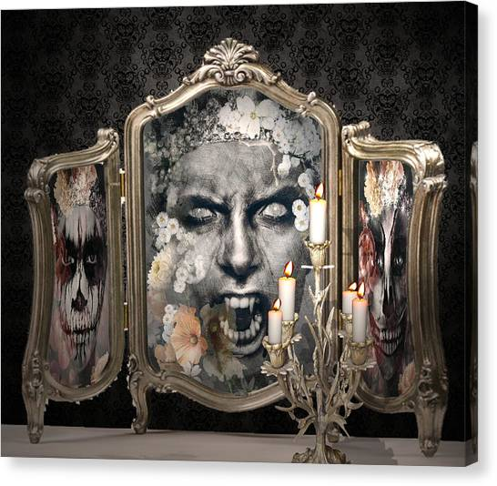 Antique Vampire Paintings Canvas Print